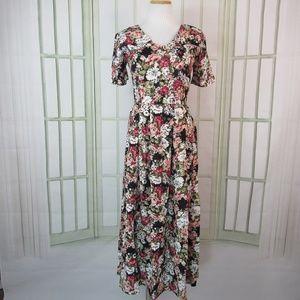 Vintage CDC size 8 a-line midi dress pleated